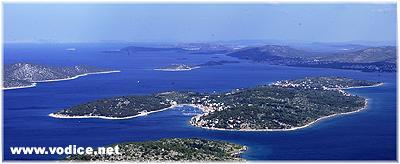 Vodice area island Prvic